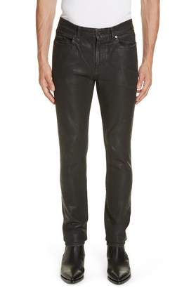 Saint Laurent Wax Coated Skinny Jeans
