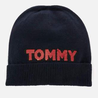 Tommy Hilfiger Women's Tommy Patch Knit Beanie - Navy