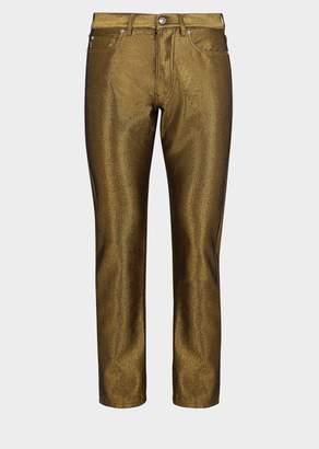 Versace Gold Thread Denim Pants