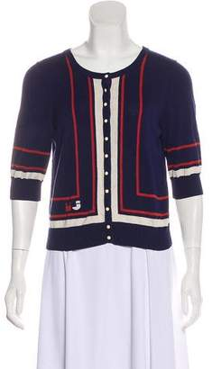 Marc by Marc Jacobs Short Sleeve Button-Up Cardigan