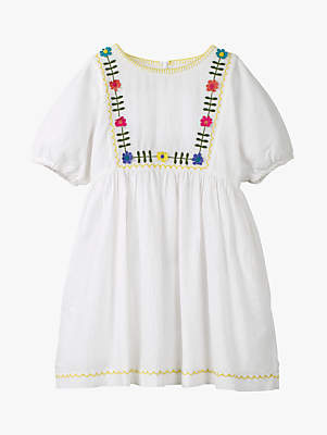 Boden Mini Girls' Embroidered Bohemian Dress