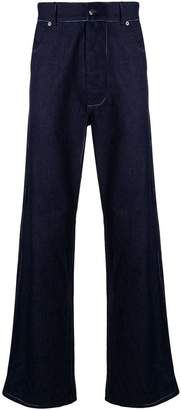 Missoni contrast stitch wide-leg jeans