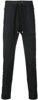 Les Hommes Urban straight leg track pants