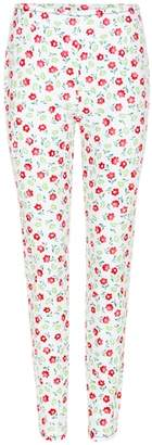 Prada Printed cotton trousers