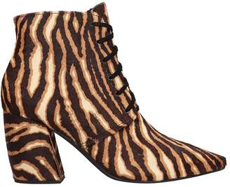 Jeffrey Campbell Ankle Boot In Animalier Pony