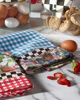 Mackenzie Childs 2 Berries and Blossoms Dish Towels