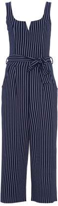 Quiz Navy And White Stripe Tie Belt Jumpsuit
