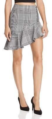 Endless Rose Asymmetric Glen Plaid Skirt