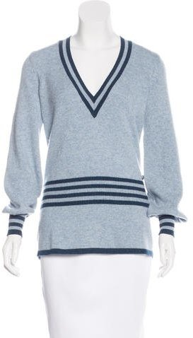 ChanelChanel Spring 2015 Striped Cashmere Sweater w/ Tags