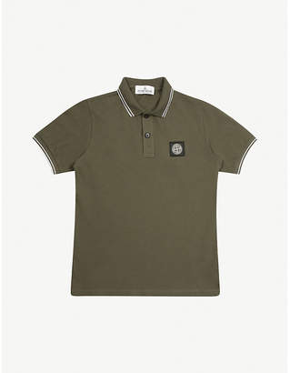 Stone Island Contrast stripe polo shirt 4-14 years