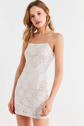 Line & Dot Lace Bodycon Dress