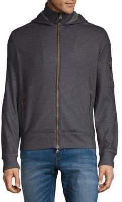 John Varvatos Hooded Zip-Front Jacket
