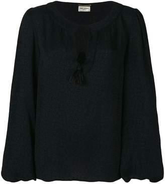 Saint Laurent tassel gypsy blouse
