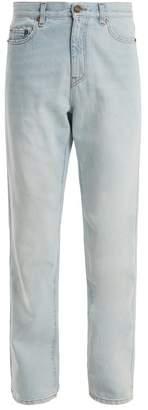 Saint Laurent Low Slung Tapered Leg Jeans - Womens - Light Blue