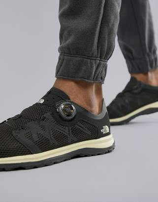 The North Face Litewave Flow Boa System No Lace Tie Sneakers in Black/White