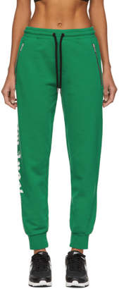 Palm Angels Green Over Logo Lounge Pants