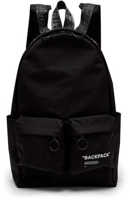 Off-white - Quote Canvas Backpack - Mens - Black