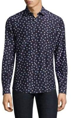 Salvatore Ferragamo Seashell-Print Button-Down Shirt