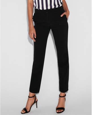 Express petite mid rise ruffle pocket columnist ankle pant