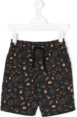 Finger In The Nose The Simpsons print swim shorts
