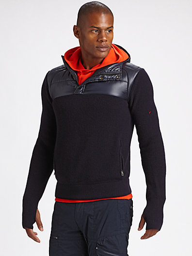 RLX Ralph Lauren Merino Wool Hooded Sweater