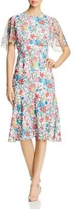 Elie Tahari Sabrina Floral Print Midi Dress