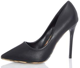 dca27d1dfff at Quiz Clothing · Quiz Black Leopard Sole High Heels