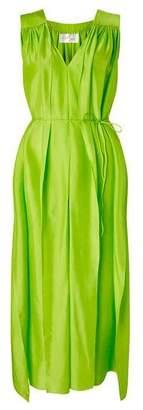 Aya Silk Peridot Maxi Dress
