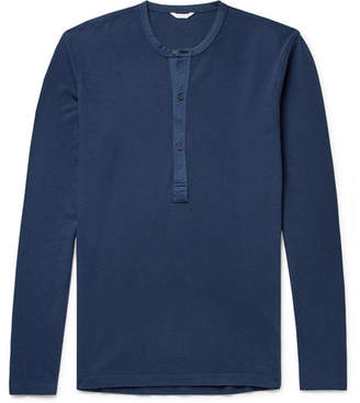 Orlebar Brown Waffle-Knit Cotton-Jersey Henley T-Shirt