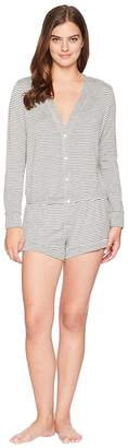 Eberjey Sadie Stripes - The Long Sleeve Teddy Women's Jumpsuit & Rompers One Piece