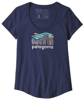 Patagonia Women's Fitz Roy Boulders Organic Cotton Scoop T-Shirt