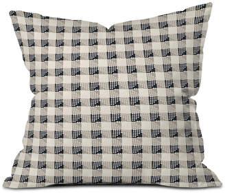 Deny Designs Holli Zollinger Anthology of Pattern Seville Gingham Black Throw Pillow