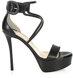 Christian Louboutin Women's Choca 130 Leather Platform Sandals