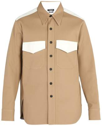 Calvin Klein Contrasting patch-pocket cotton-twill shirt