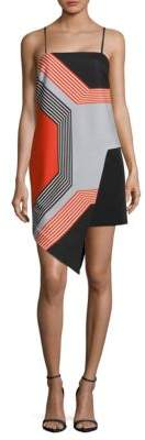 Milly Octagon-Print Asymmetrical Dress