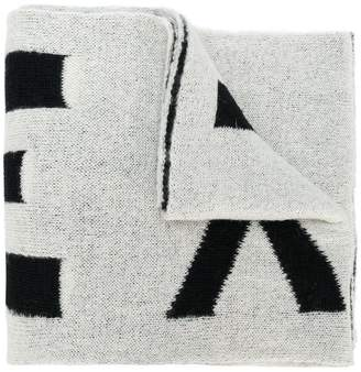 Faith Connexion oversized logo knitted scarf