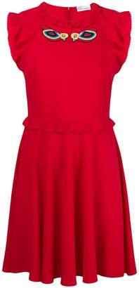RED Valentino ruffle trim skater dress