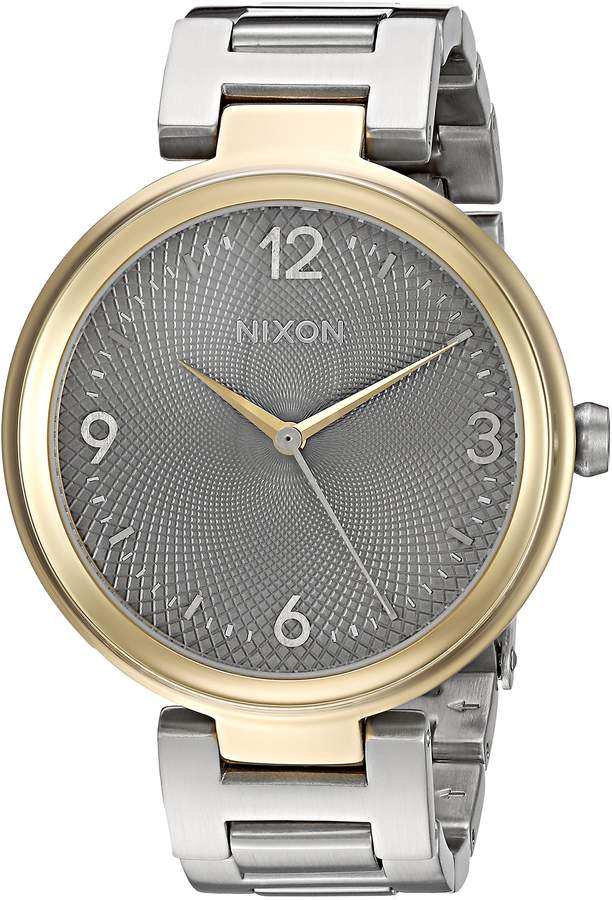 Nixon Women's A9912477-00 Chameleon Analog Display Quartz Silver Watch