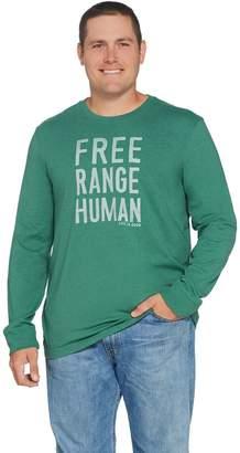 Life is Good Men's Crusher Long Sleeve Free Range Human Tee