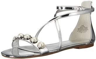 Nine West NWDANE3, Women's Ankle Strap Sandals, Grey (Silver #6), (9 US) (40 EU)