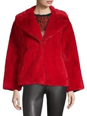 Alice + Olivia Thora Faux-Fur Jacket