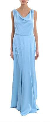 Moschino Draped Neck Maxi Dress