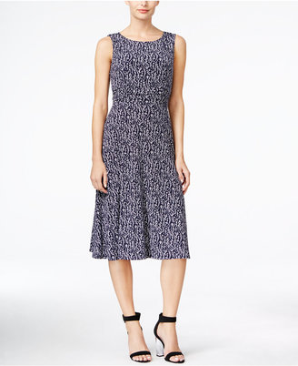 Jessica Howard Printed Ruched-Waist Dress $69 thestylecure.com