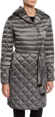Max Mara Here is the Cube Collection Tref Quilted Down-Fill Wrap Coat