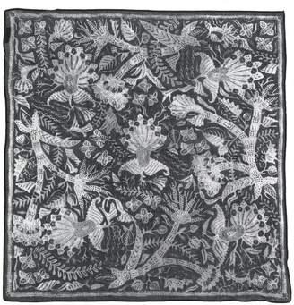 Yohji Yamamoto floral print keyring scarf