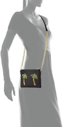 Tea & Tequila Palm Tree Chain Clutch Bag, Black