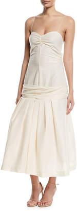 Jacquemus La Robe Mamao Linen-Blend Drop-Waist Dress