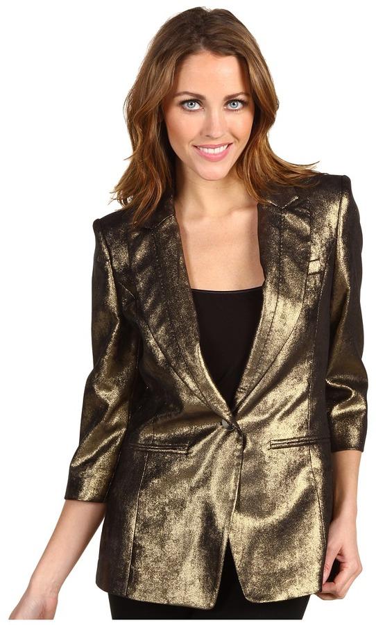 Ted Baker - Furax Metallic Suit Blazer (Gold) - Apparel