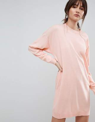 Asos DESIGN Knitted Oversized Crew Neck Dress