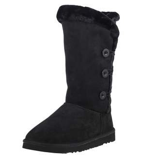 KOZIES Women's Suede Boots (Triple Button) - Warm Fur Interior Lining | Rubber Blend Sole | Color - Size 8US